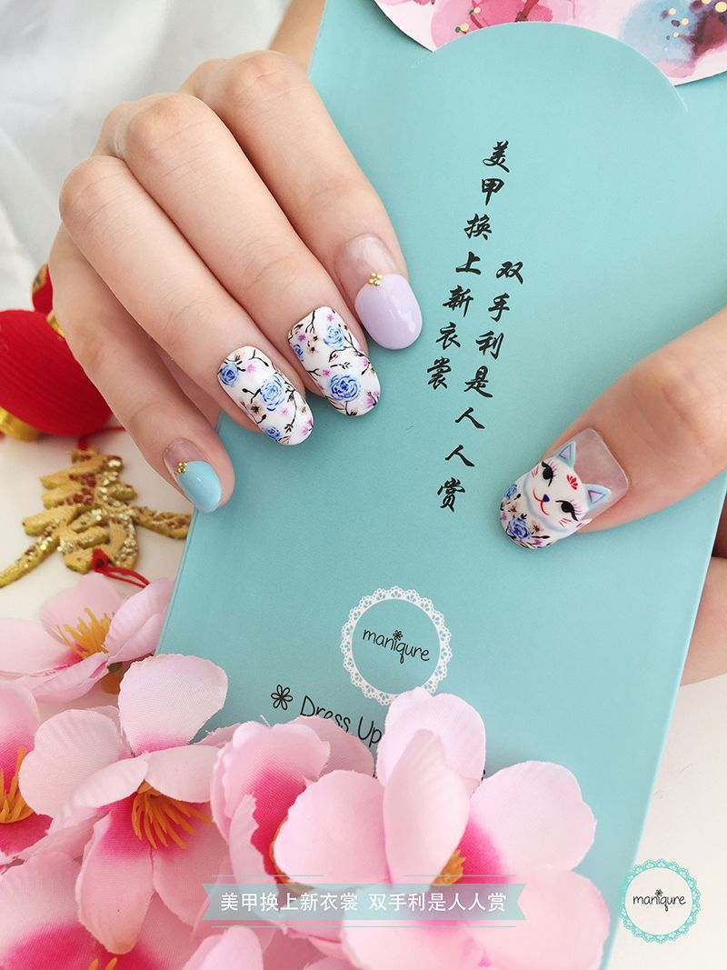Chinese New Year Nail Art Cny Manicure New Years Nail Art