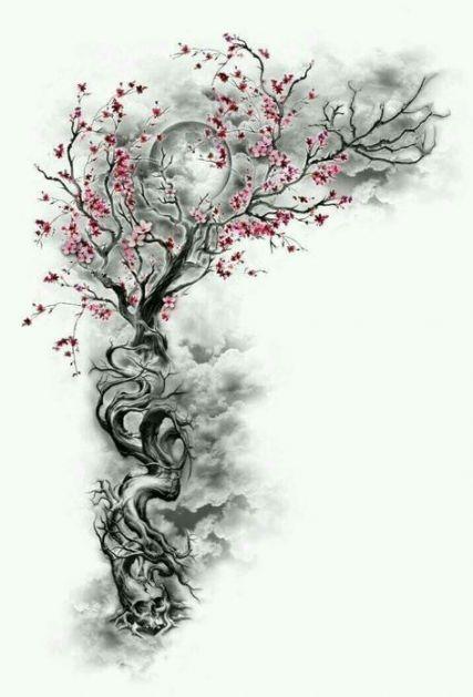 47 Super Ideas For Tattoo Bird Tree Cherry Blossoms Blossom Tattoo Tree Tattoo Tattoos