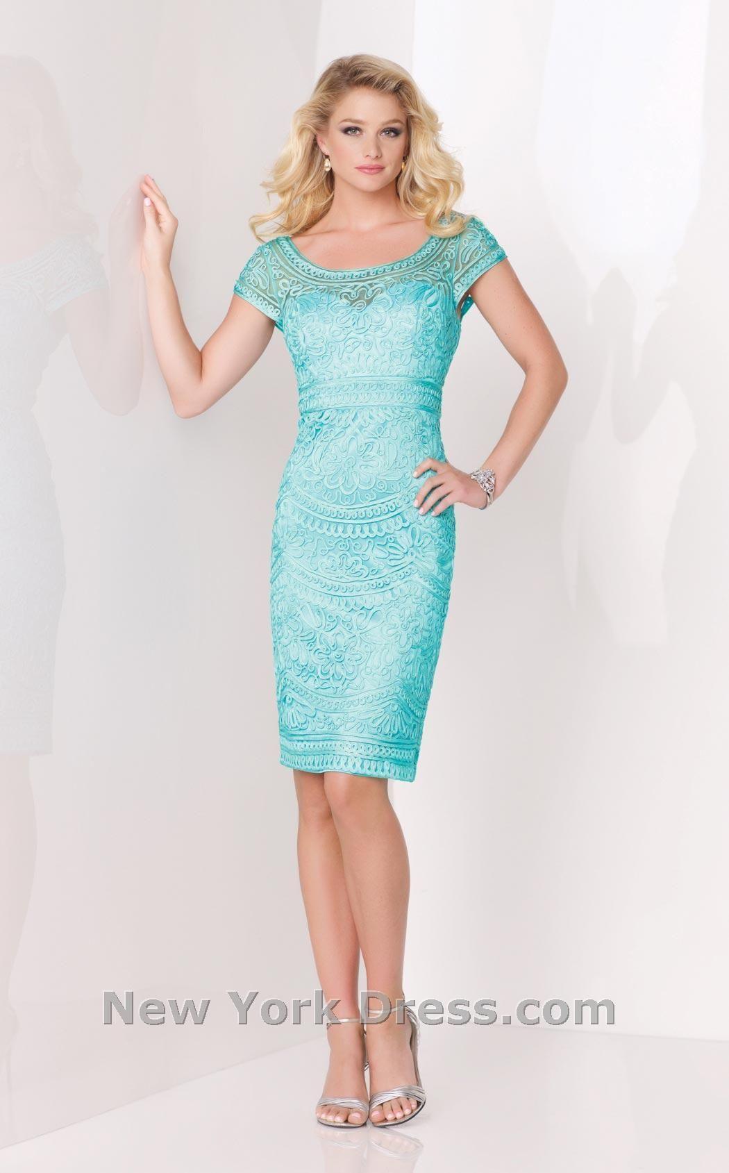 Mon Cheri 115869 | Bride dresses, Turquoise and Cap