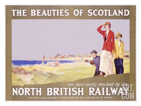 North British Railway, Golf in Scotland Giclee Print at Art.com