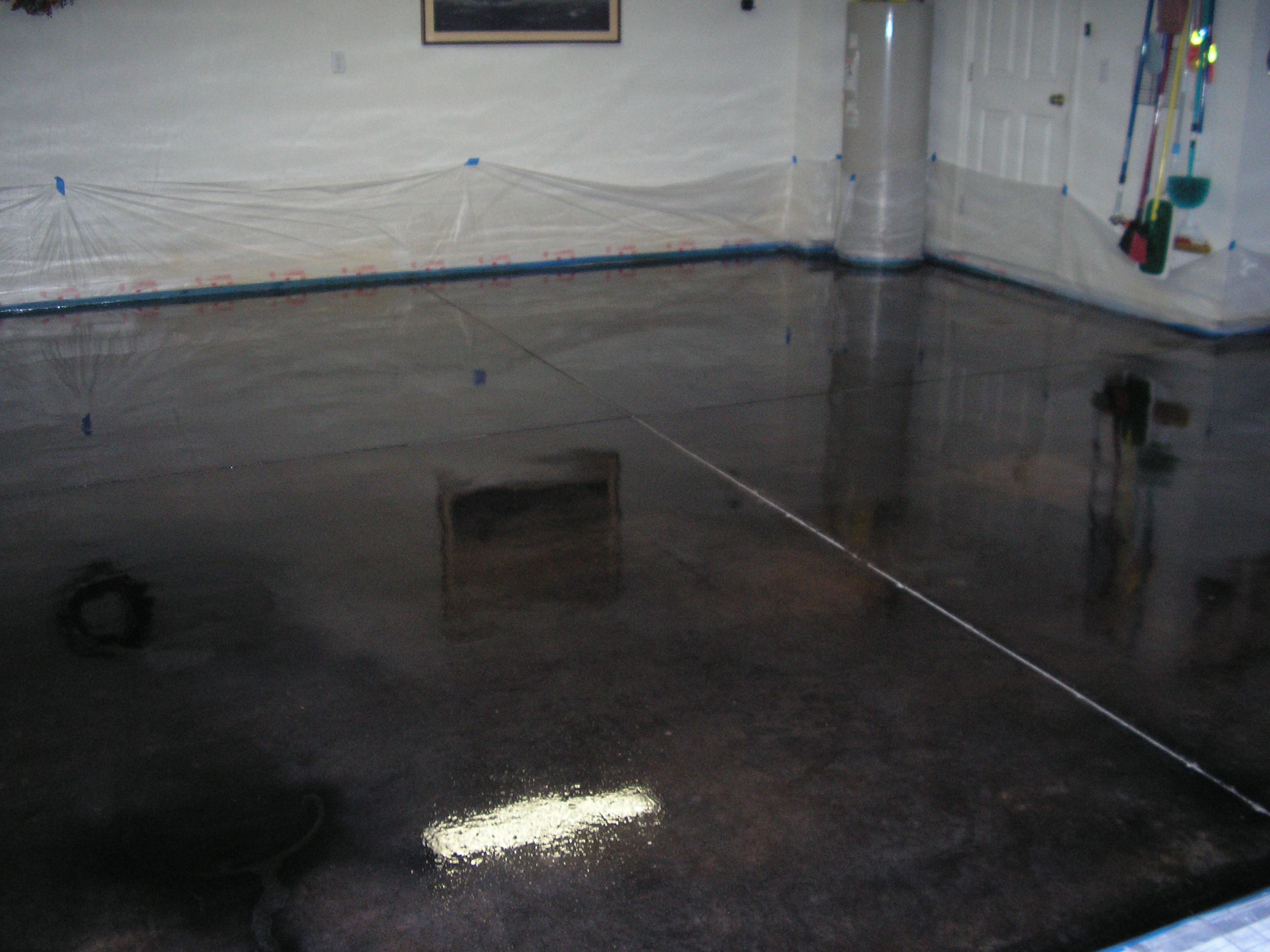 Stained concrete floors acid stained concrete floors for Garage ad stains