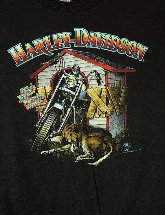2f1e52a6171c16 80 s Harley Davidson T-Shirt Man s Best Friend   Battle Creek MI ...