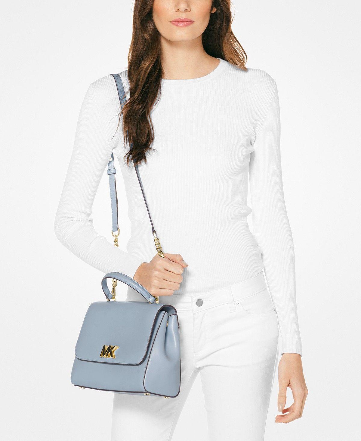Michael Michael Kors Mott Medium Top Handle Satchel Handbags Accessories Macy S Michael Kors Crossbody Bag Michael Kors Convertible Shoulder Bags