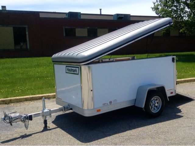 5x8 Cargo Trailer Roof Pop Up Google Search Cargo Trailers Trailer Rv Campers