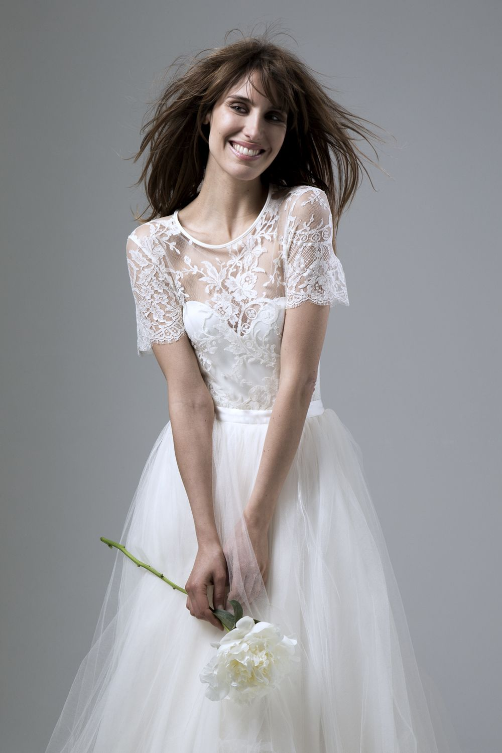 c7072a5f53 ANNABEL FRENCH LACE TEE PAIRED WITH THE DITA CORSET AND DITA SILK TULLE  SKIRT DESIGNED BY HALFPENNY LONDON