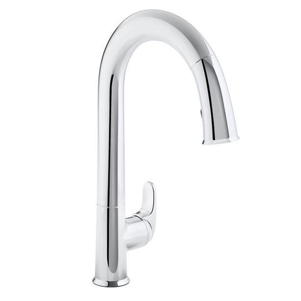 Kohler Sensate Ac Powered Touchless Kitchen Faucet In Polished