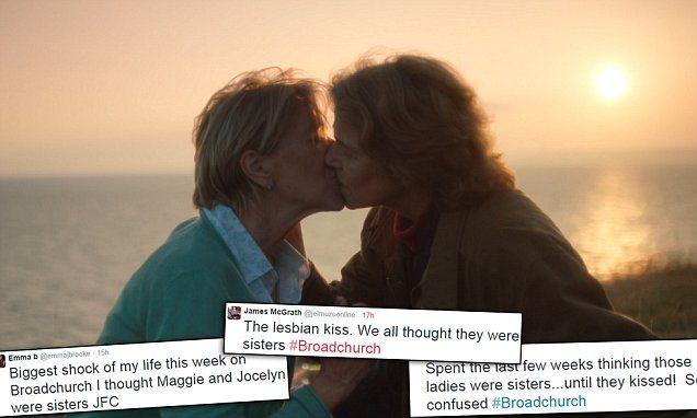 Confused kiss lesbian