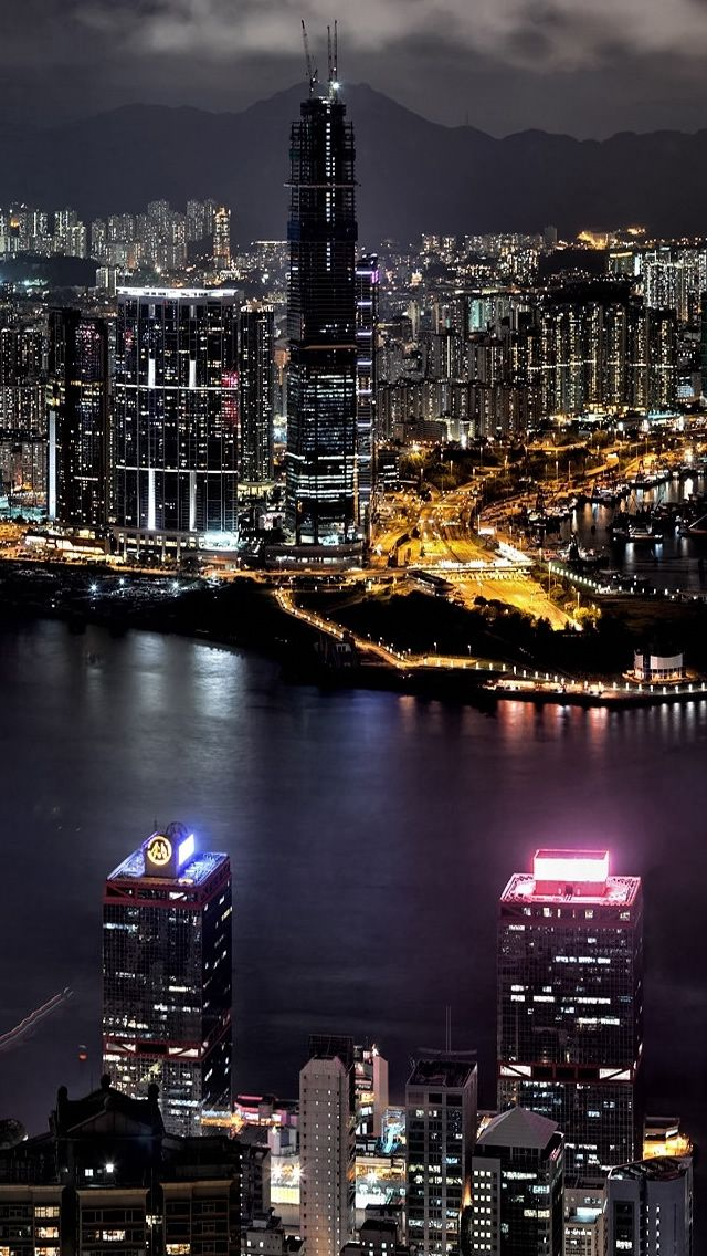 City Night View Iphone Wallpapers Luzes Da Cidade Cidade Iluminada Wallpaper Fofos
