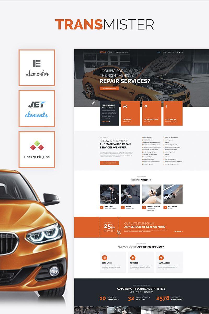 Transmitter Car Repair Wordpress Theme 65975 Auto Repair Repair Car Repair Service