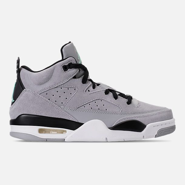 Right view of Men s Air Jordan Son of Mars Low Off Court Shoes in Wolf Grey Emerald  Rise 093f296d2