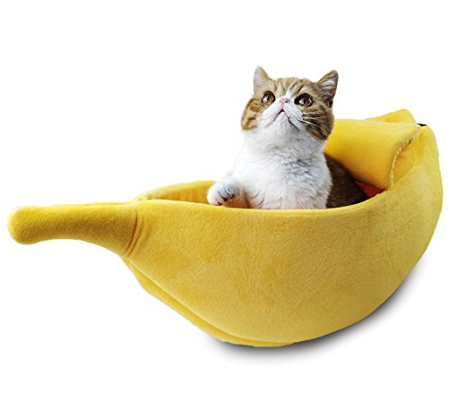Banana Peel Cat Bed Kitten beds, Cat bed, Dog beds for