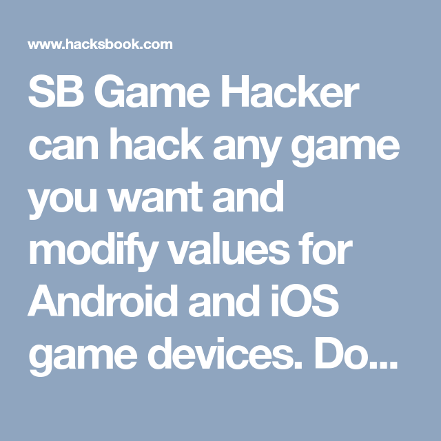 any game hacker