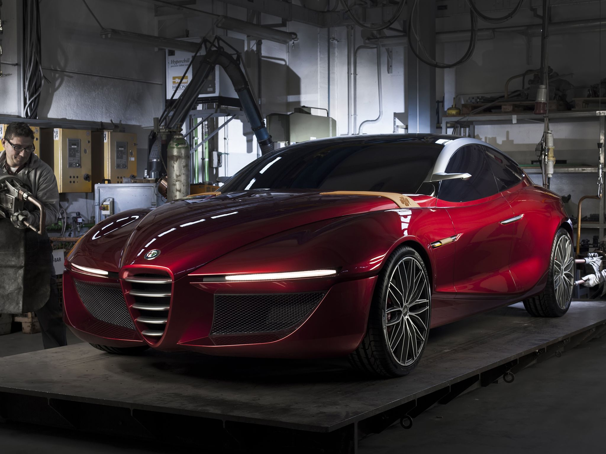 Alfa romeo gloria future car 2013 geneva motor show european design institute ied of turin