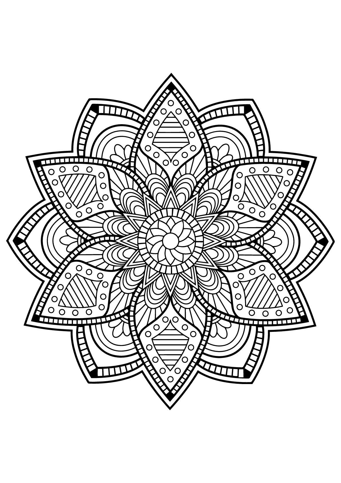 Mandala From Free Coloring Books For Adults 24 Mandalas Coloring