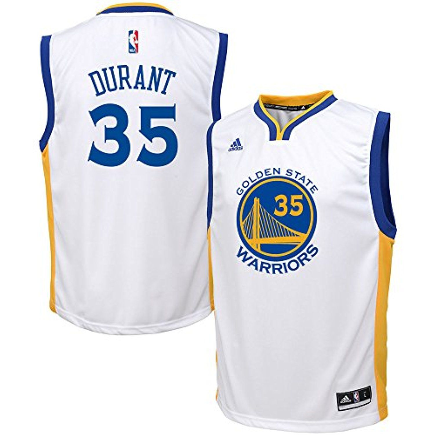 b3361bdd2603 Kevin Durant Golden State Warriors NBA Adidas Kids White Home Replica  Jersey    Read more reviews of the product by visiting the link on the  image.