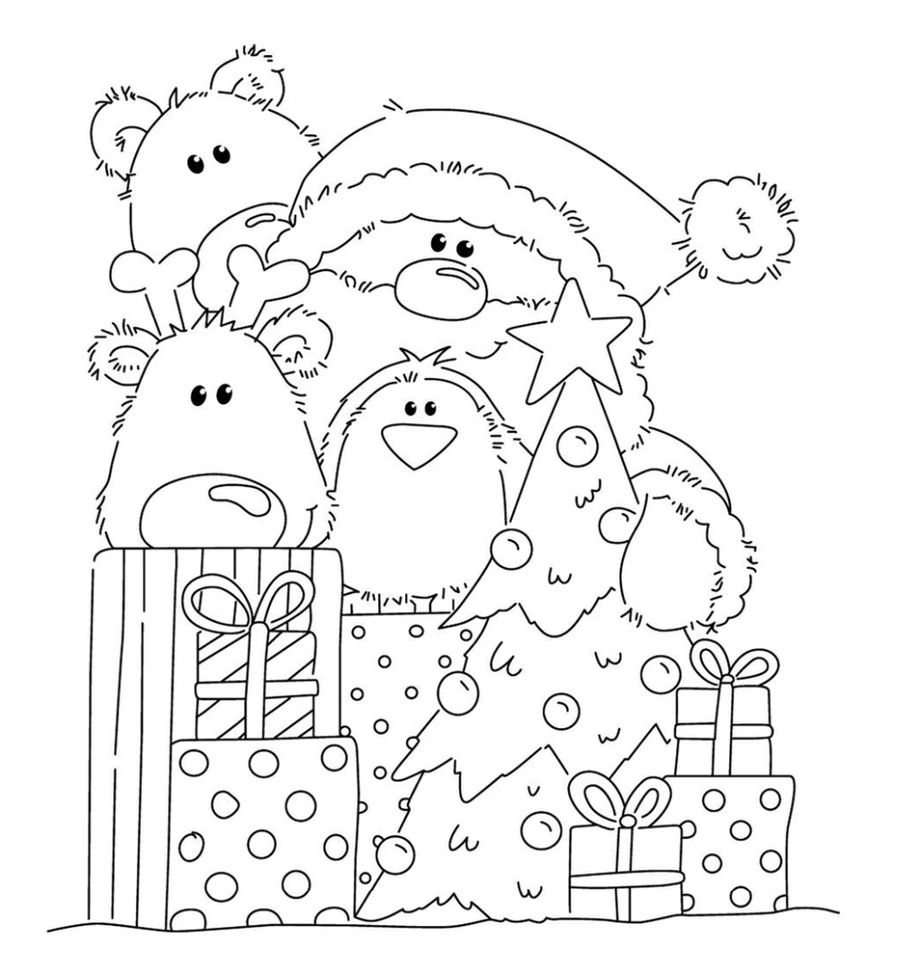 Christmas Coloring Pages Printable Christmas Coloring Pages Christmas Stamps