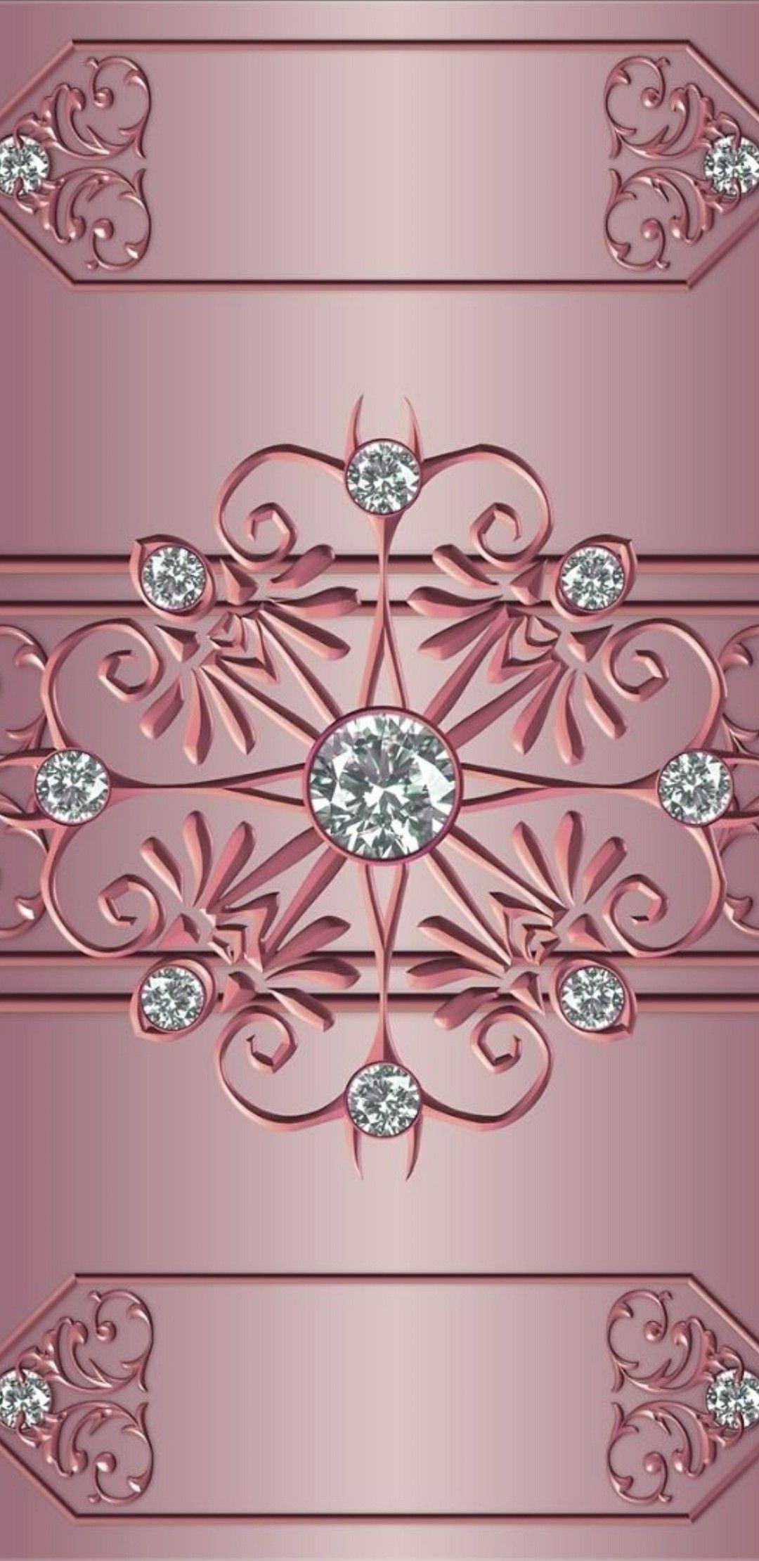 Rose Gold Diamond Phone Wallpaper Rose Gold Wallpaper Gold Wallpaper Iphone Rose Gold Backgrounds
