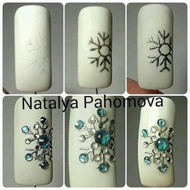 Pin de Елена Макаренко en ногтики | Pinterest | Uñas navidad ...