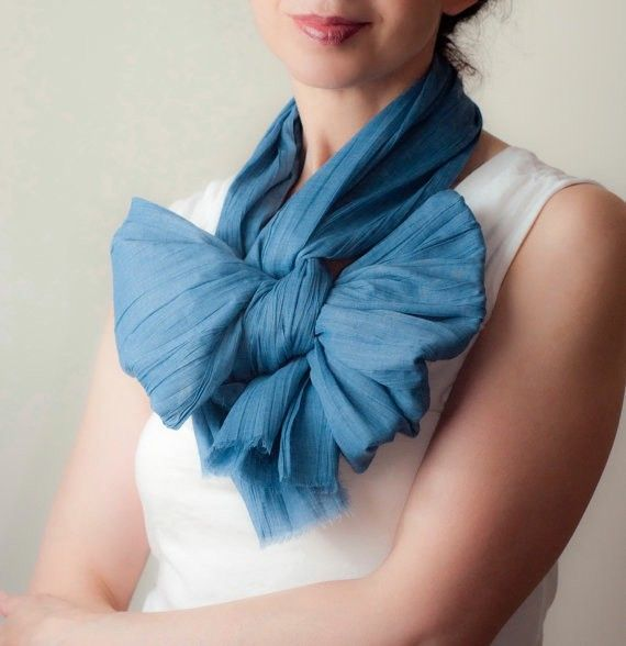 Photo: 21 New Ways to Wear A Summer Scarf   Bustle