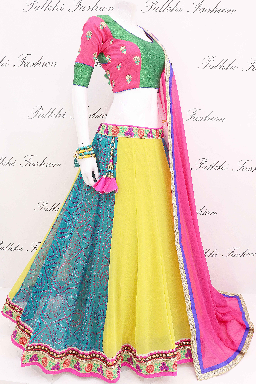 ccad1a7b62 Pure Georgette Bandhani Full Flair Chaniya Choli With Beautiful Color  Combination