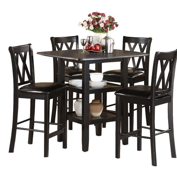 Woodhaven Hill Norman 5 Piece Counter Height Dining Set U0026 Reviews | Wayfair