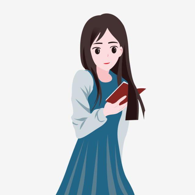فتاة تقرأ كتاب ا طالبة تقرأ قراءة القراءة التوضيح الحرف حرف Png وملف Psd للتحميل مجانا Girl Reading Illustration Girl Character Illustration