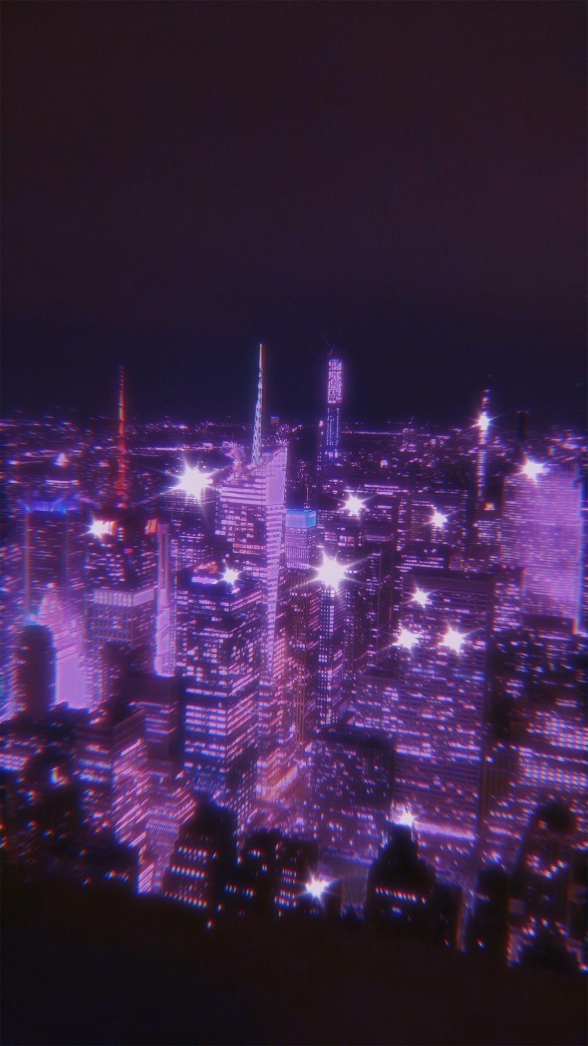 New York City Aesthetic Backgrounds Sky Aesthetic Purple Aesthetic Dark purple aesthetic wallpaper city