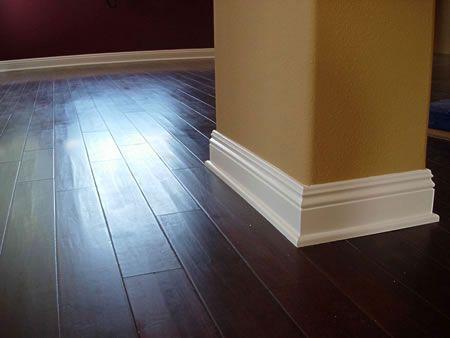 White base board with wood floor i love dark wood floors for White baseboards with wood floors