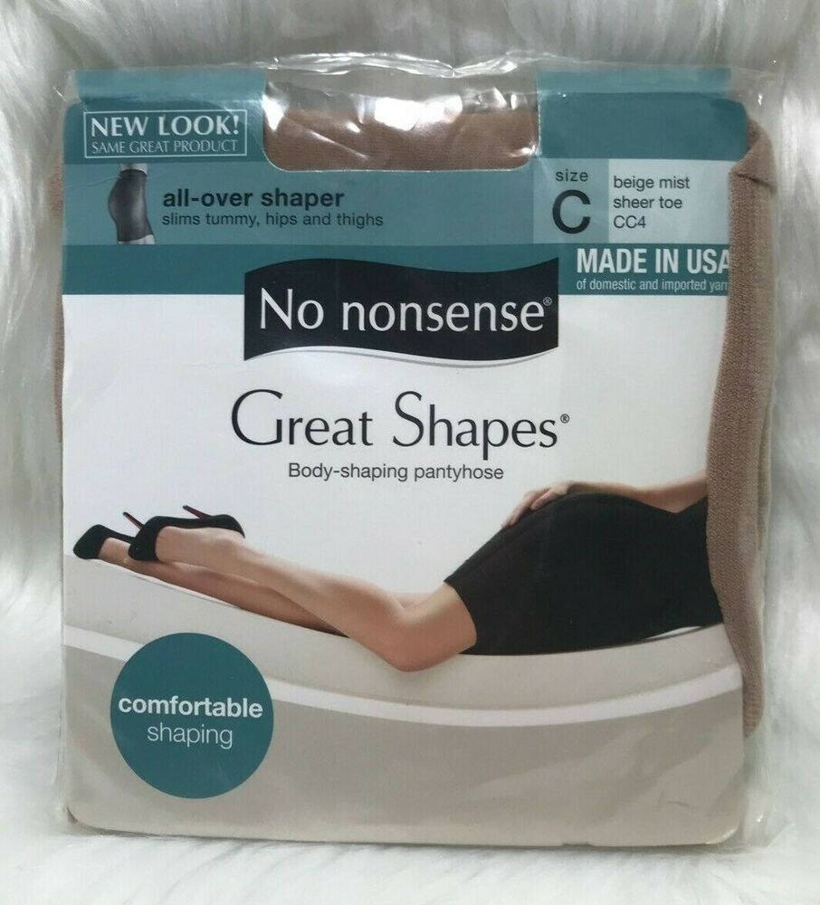 f58644291 No Nonsense Great Shapes Panty Hose Size C Beige Mist Body Shaping   NoNonsense  PantyHose