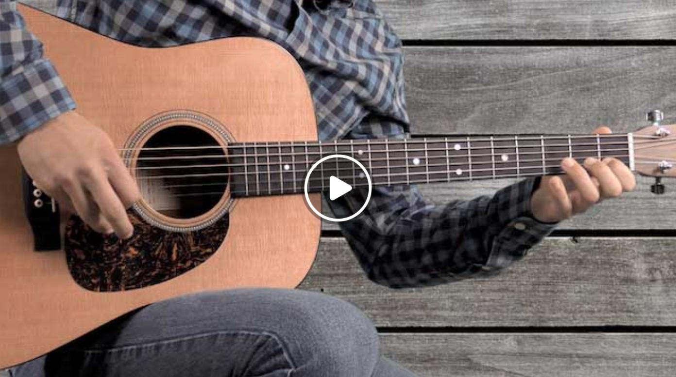 Bluegrass Guitar Lick 10 In C