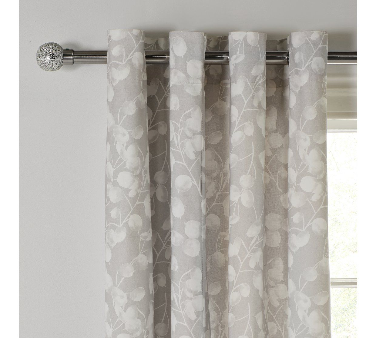 Buy Argos Home Honesty Lined Eyelet Curtains 117x137cm Grey Curtains Argos Argos Home Grey Curtains Curtains