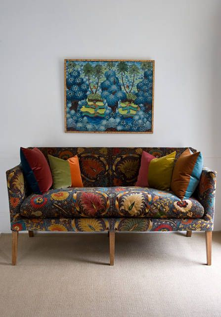 Joseph Fabrics From Our Big Prints Range Lewis And Wood Printed Velvet Upholstery Fabric Uk Modern Upholstery Upholstery Fabric