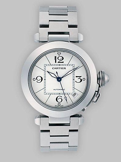 08c47a97d6cf8 Cartier - Pasha C de Cartier Stainless Steel Watch on Bracelet - Saks.com