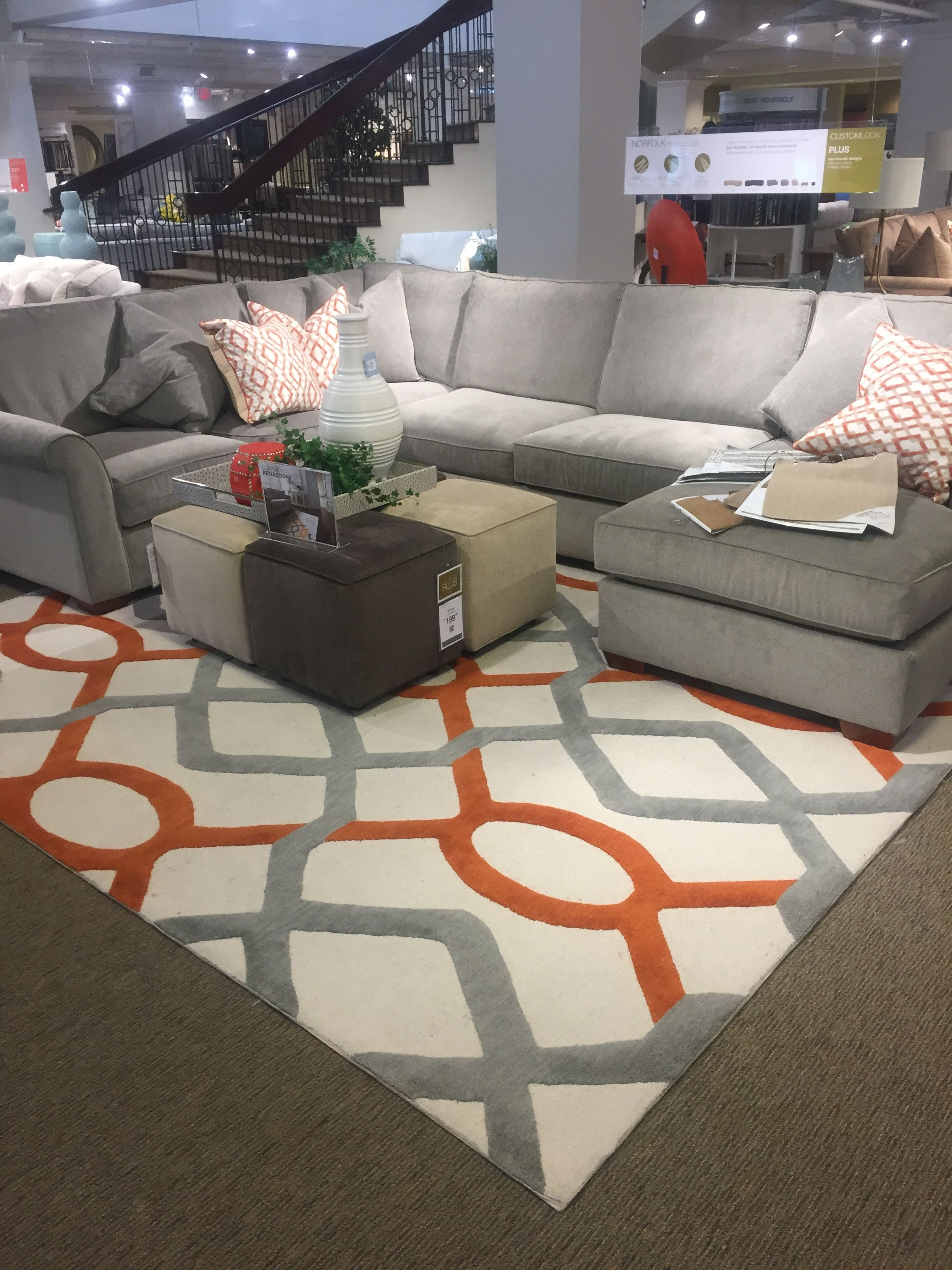Havertys Norfolk Mineral Gray Living Room Makeover Family Room