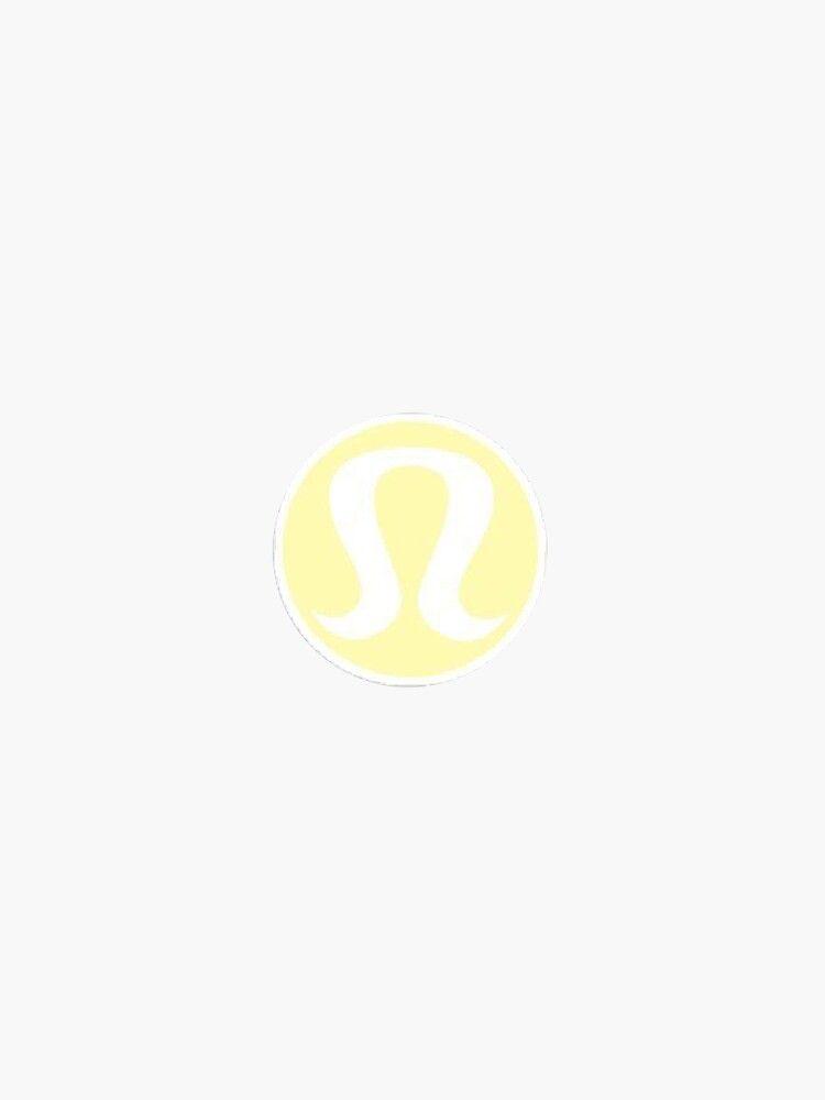 'lululemon yellow sticker logo aesthetic girly lulu' Sticker by stickergorlxox