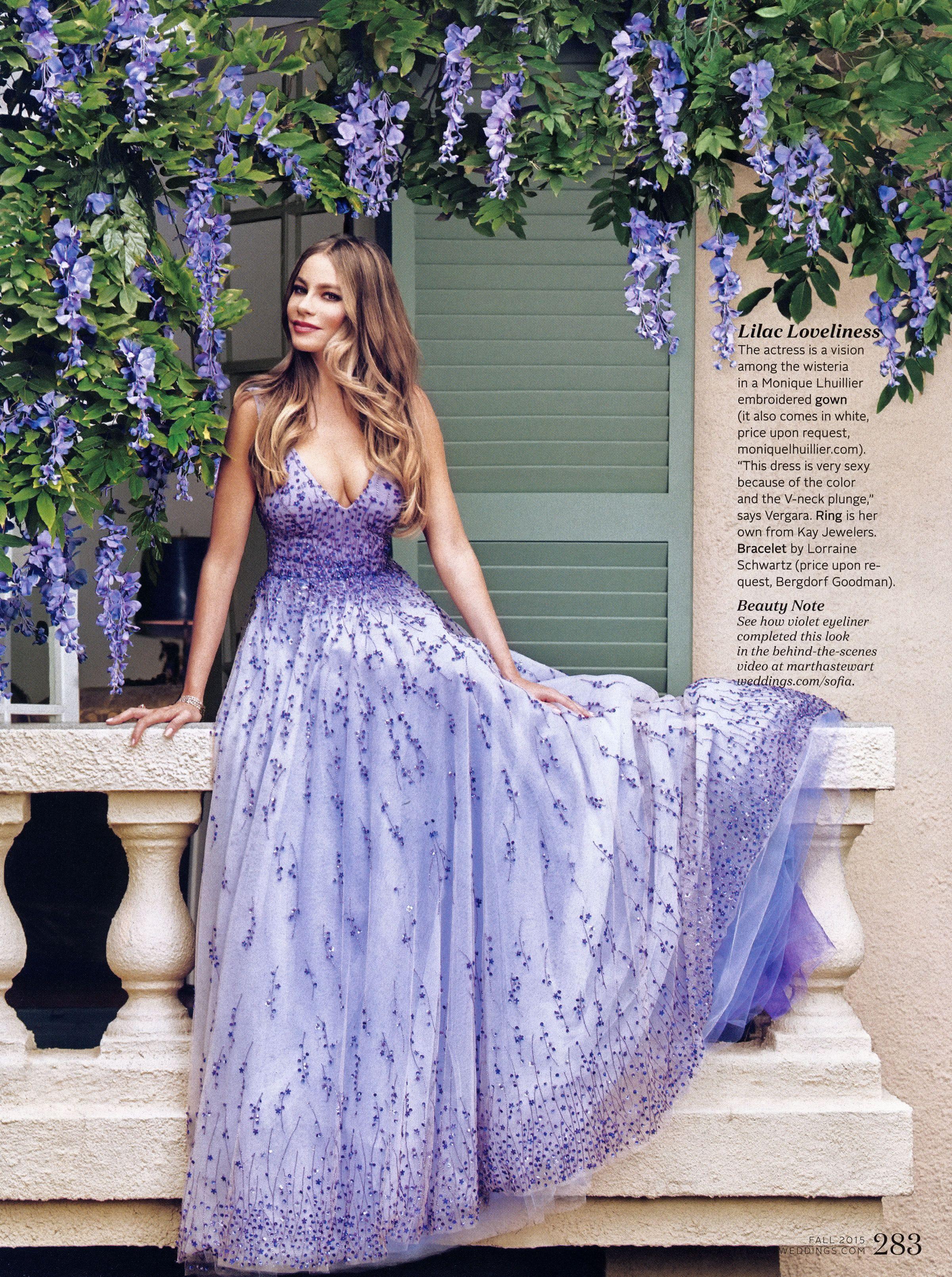 Sofia Vergara Martha Stewart Weddings Fall, 2015 | The Girl in the ...