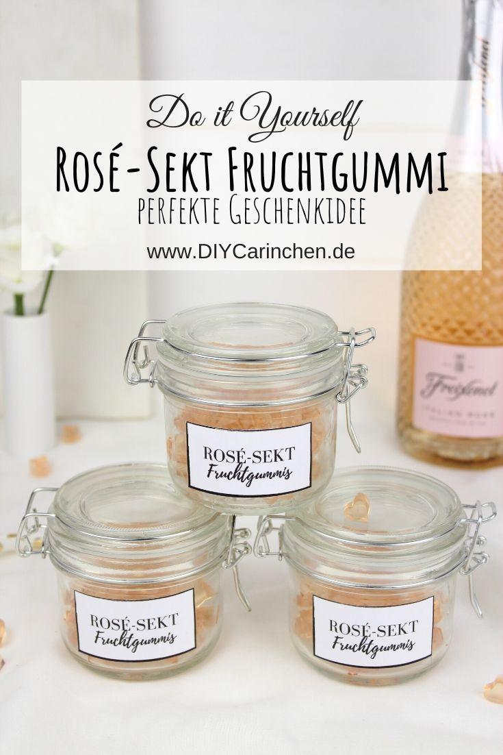 Rezept - Rosé-Sekt Fruchtgummi einfach selber machen