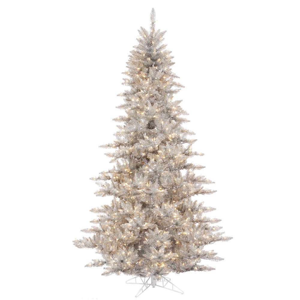 10 X68 Silver Fir Tree Dural 1150cl In 2020 Pre Lit Christmas Tree Silver Christmas Tree Fir Christmas Tree
