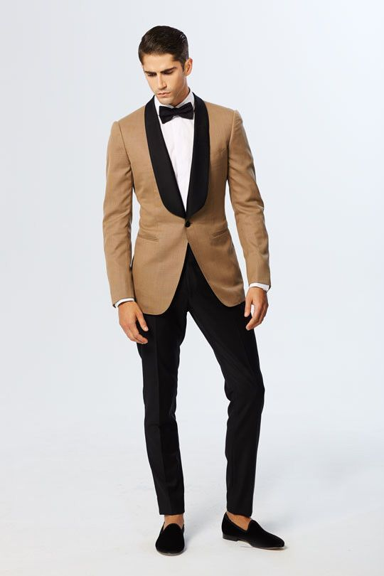 837d9e6d2f Click to Buy << Latest Coat Pant Designs Champagne Blazer Black Lapel Groom