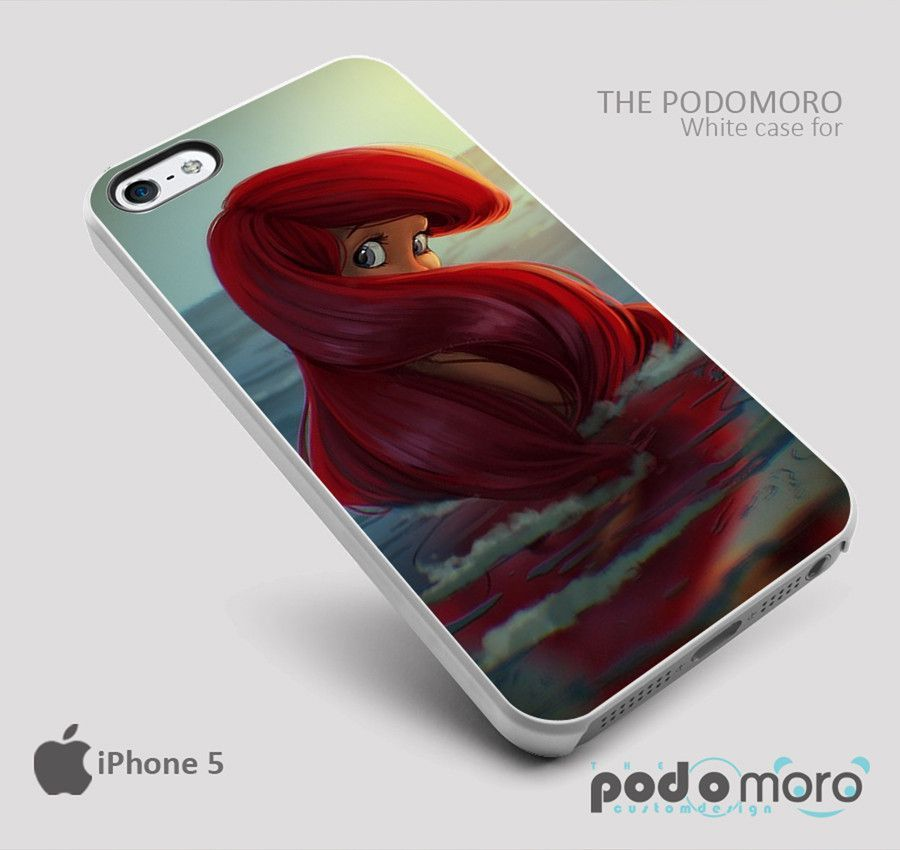 Ariel Little Mermair Behind for iPhone 4/4S, iPhone 5/5S, iPhone 5c, iPhone 6, iPhone 6 Plus, iPod 4, iPod 5, Samsung Galaxy S3, Galaxy S4, Galaxy S5, Galaxy S6, Samsung Galaxy Note 3, Galaxy Note 4, Phone Case