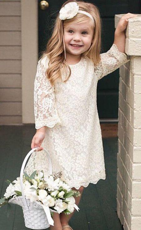 1aede0d67 cute long sleeve flower girl dresses
