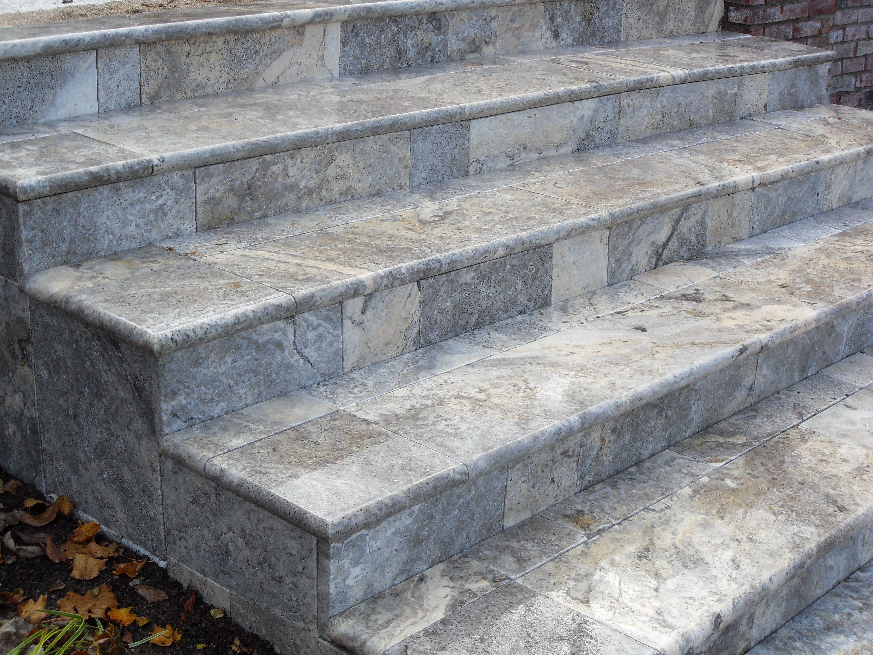 Travertine steps