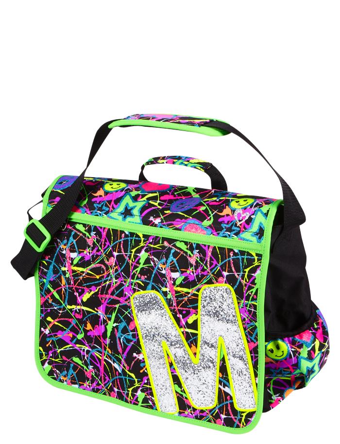 Glitter Graffiti Initial Messenger Bag  33cb1f6bc8755