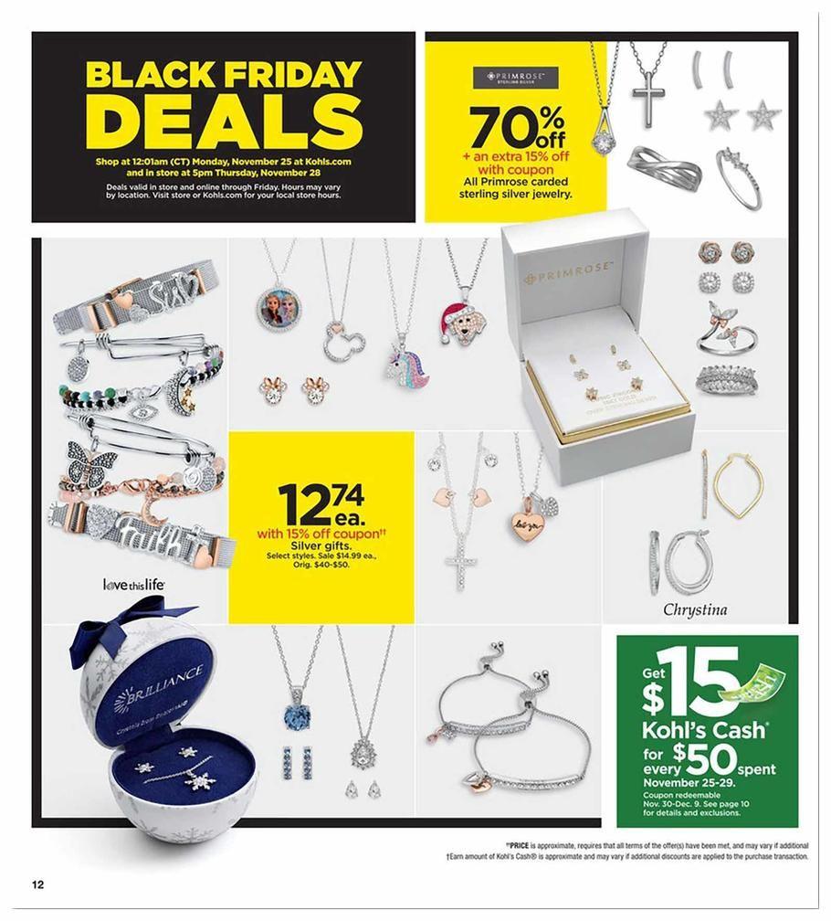 21++ Kohls black friday sale jewelry ideas
