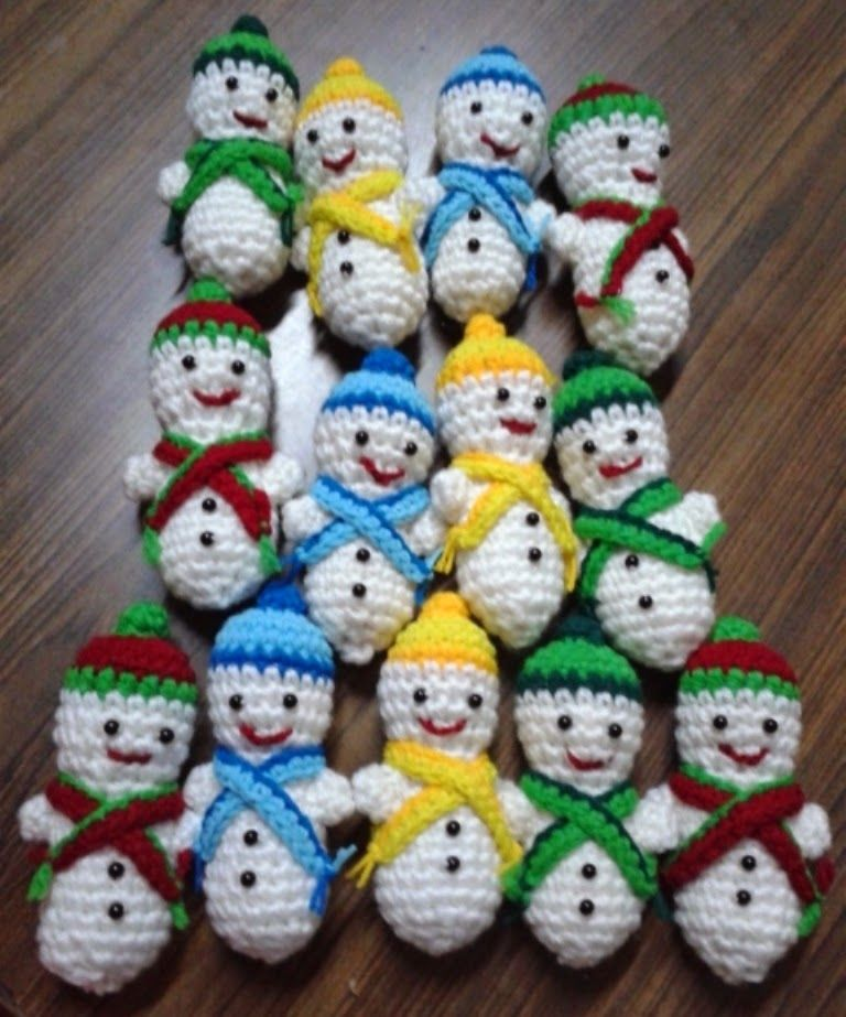 Free Crochet Patterns Free Crochet Pattern For Snowmen Christmas