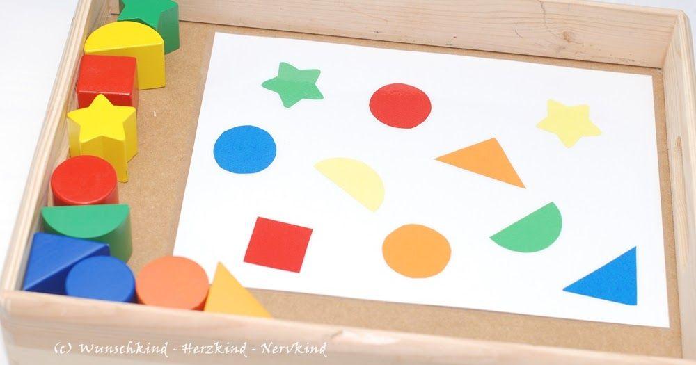 Wunschkind - Herzkind - Nervkind: Zuordnen von Farben und Formen