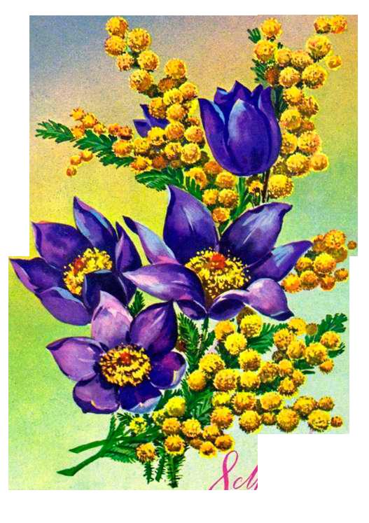 Смешную, открытка к букету цветов на 8 марта