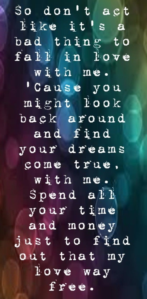 Justin Timberlake - Not a Bad Thing - song lyrics, song quotes ...