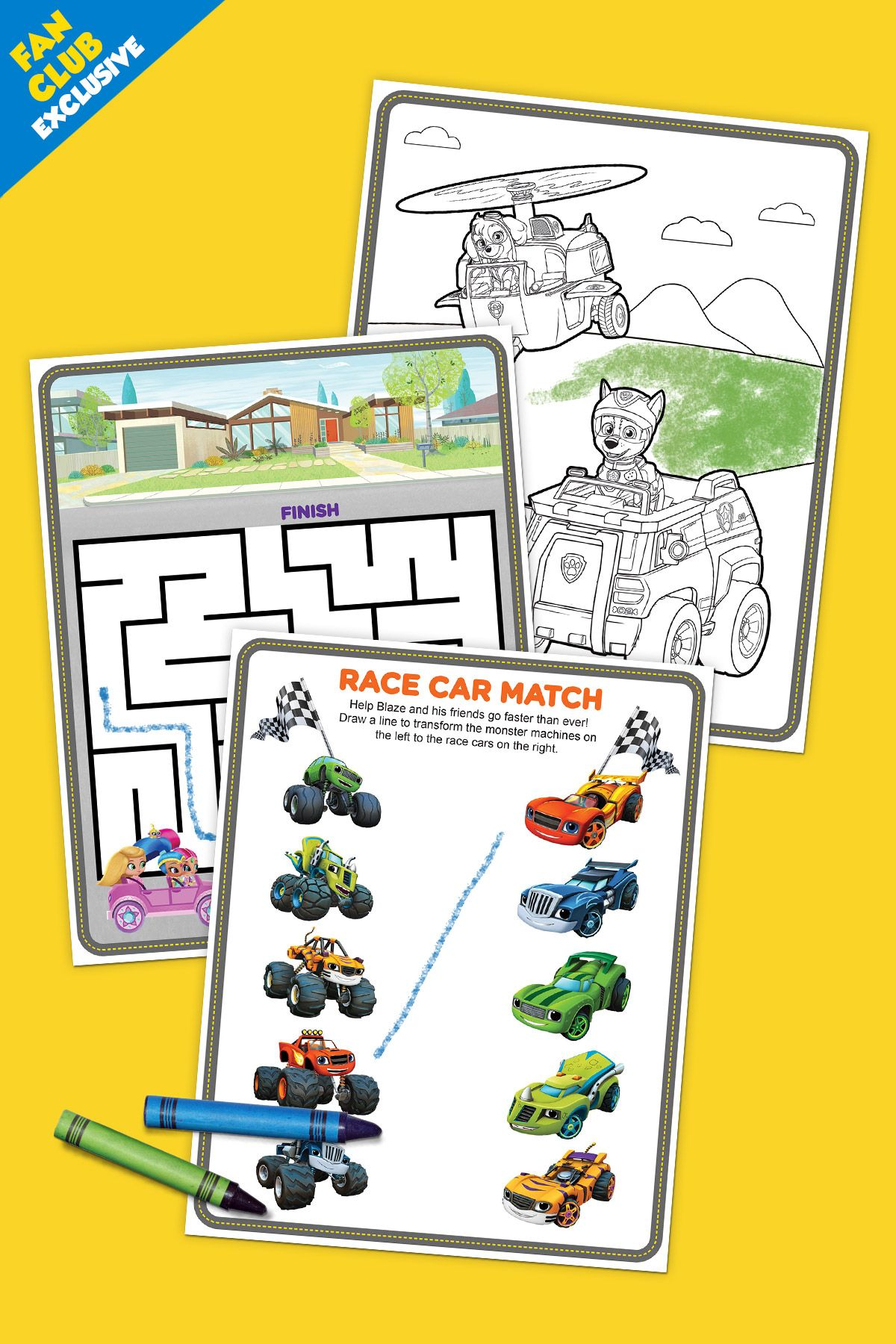 Fan Club Exclusive Nick Jr Vehicle Pack