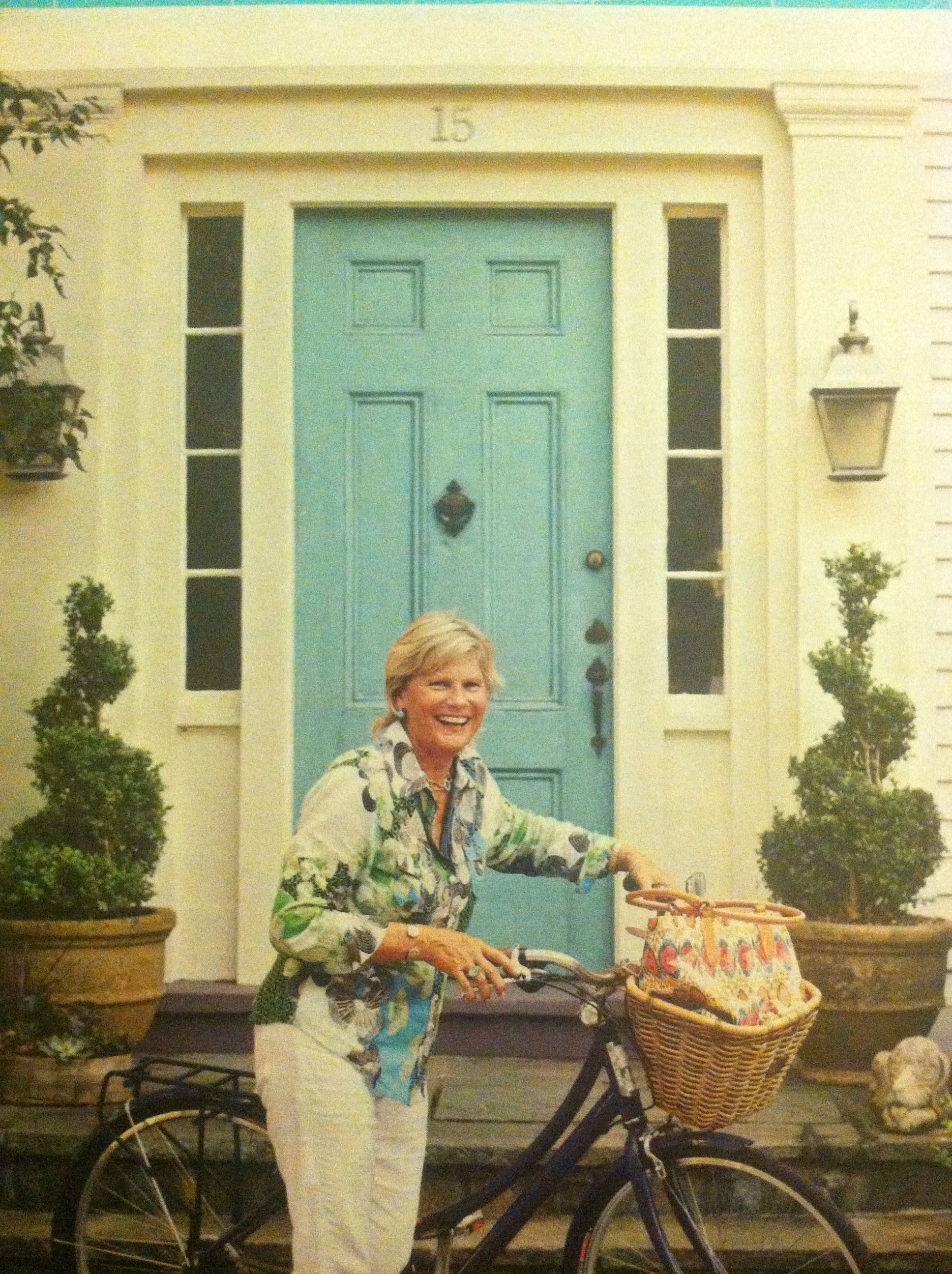 The blue door! From January Better Homes and Gardens.